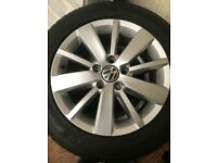 """VW golf 16"""" Alloy wheels and tyres."""