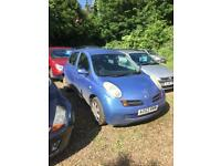 53 reg nissan micra 11 month mot new clutch and new timming chain