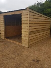 3.6 X 3.6 Metre Field Shelter Stable Tack Room Log Store