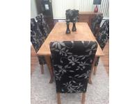 Dining table & 6 dining chairs