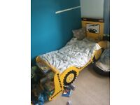 Boys digger toddler bed