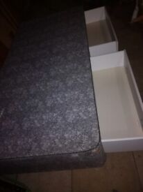 Single Divan Bed with 2Draws + Matress - USED