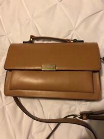 Linear Tan Handbag