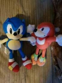 Sonic plushies