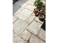 40 sq. m. of pale grey garden patio tiles