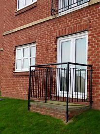 East Shore Village, 1 bedroom ground floor flat, sea facing, outside balcony, secure intercom entry.