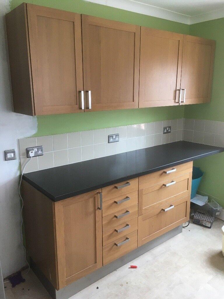 IKEA Shaker Style Oak Kitchen Units/cabinets   in Westbury ...