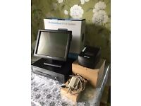 COMPLETE EPOS SYSTEM TOUCH SCREEN LIKE NEW UNUSED WITH SOFTWARE/SHOP TIL