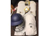 Cricket gloves pads