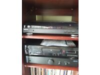 Turntable, CD player, Amplifier and speakers with or without storage unit
