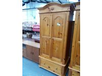 Double Solid Pine Wardrobe Robe…31972A