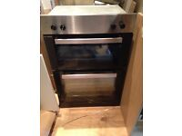Beko double oven used once immaculate