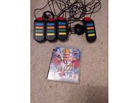 Playstation 3 Buzz Quiz Game and PlayStation 2 Buzz Buzzer Controllers