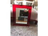 Francois Ghost by Kartell Red Framed Mirror