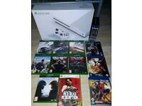 Boxed Xbox One S with 8 games, 3 blu ray films & alien anthology blu ray boxset