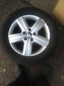 "VW T5 Genuine 17"" Thunder alloys and tyres"