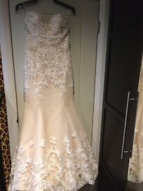 Watters Wedding Dress 8-10 Lace Strapless Sweetheart Fishtale Vintage RRP £1400