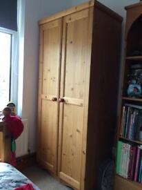 Single Solid pine wardrobe