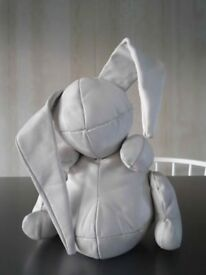 Gorgeous White Leather calfskin Bunny Limited Edition Stuffed and in rubber box