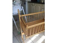 Double pram and cradle cot