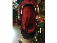 Graco pushchair, car seat plus moses basket used