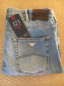 Armani jeans, J21 regular fit light blue wash