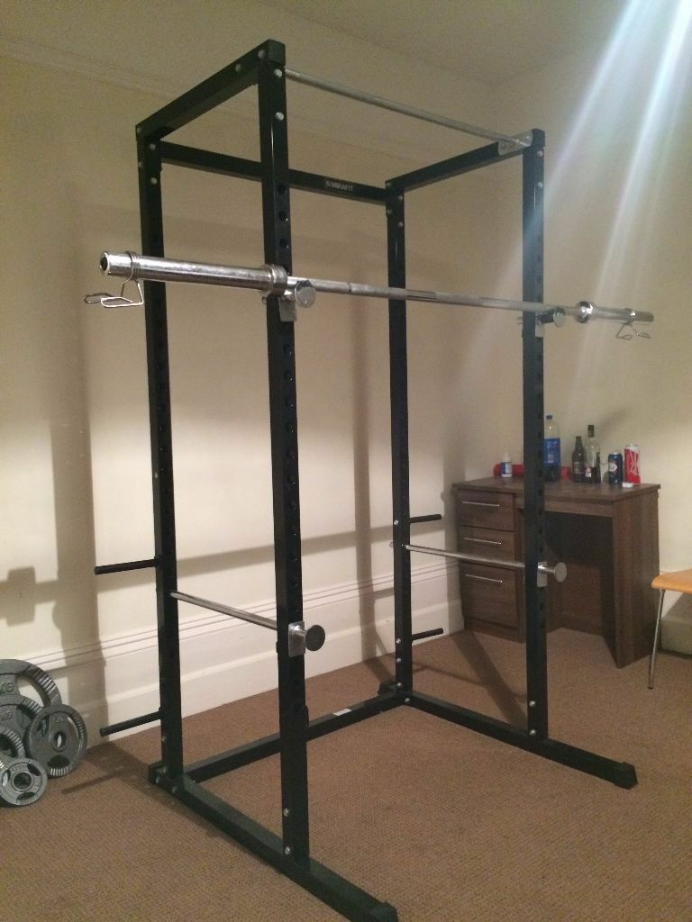 mirafit power cage squat rack pull up bar in newcastle tyne and wear gumtree. Black Bedroom Furniture Sets. Home Design Ideas