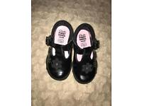 Clark's first shoes size 3.5f. Black patent light up shoes