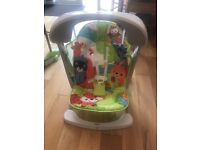 Fisher Price Rainforest Baby Swing 2 In 1 Chair Seat