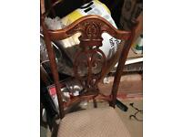 Lovely antique carved chairs 4 available project