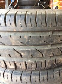 Set of 4 Continental ContiPremiumContact 2 tyres for Sale. 195/55 R 15 85H.