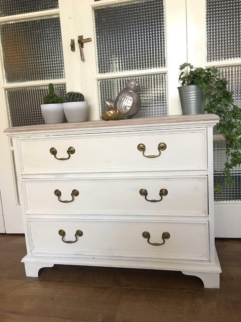LOVELY CHEST FREE DELIVERY LDN🇬🇧shabby chic white