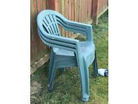 3 x plastic garden chairs free