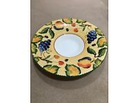 Large ceramic shallow bowl