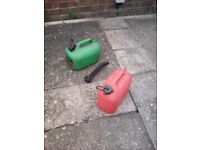 Petrol cans for sale
