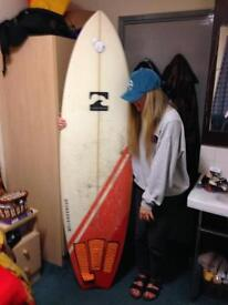 "6ft4"" fish tail surfboard, great condition with lesh, travel bag, wax, find and GoPro surf mount"