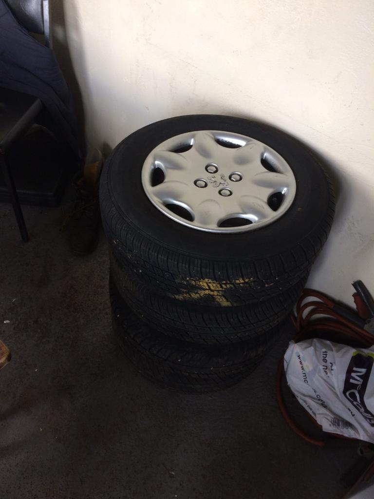 Peugeot 106 /Saxo wheels 165 70 13 tyres trims