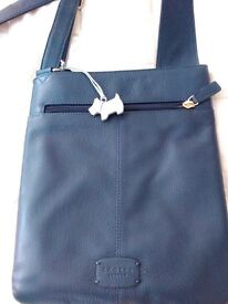 Radley Navy Cross Body Leather Bag