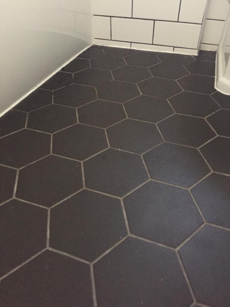 matt black hexagon wall or floor tiles in croydon. Black Bedroom Furniture Sets. Home Design Ideas