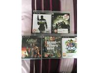 Mix bundle PS3 games - Call of duty, GTA, Fallout, Sims