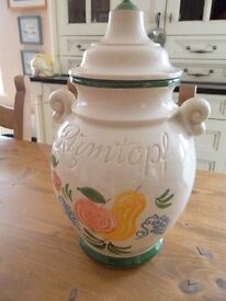 Rumtopf 826-36 Biscuit/Cookie/Storage/Collectable jar W Germany