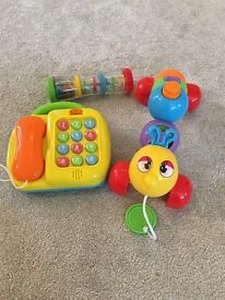 Like new selection of baby toys