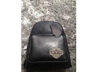 Safelake leather backpack