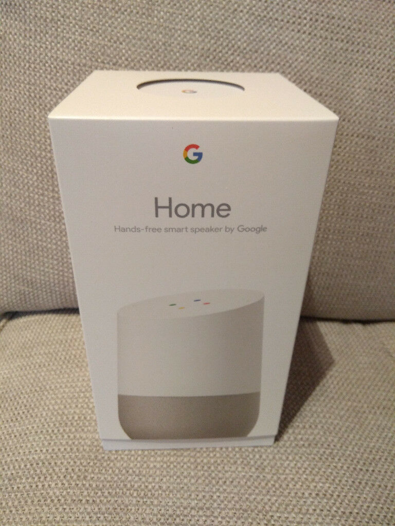 google home smart speaker full size not google home mini white brand new in box 100 in. Black Bedroom Furniture Sets. Home Design Ideas