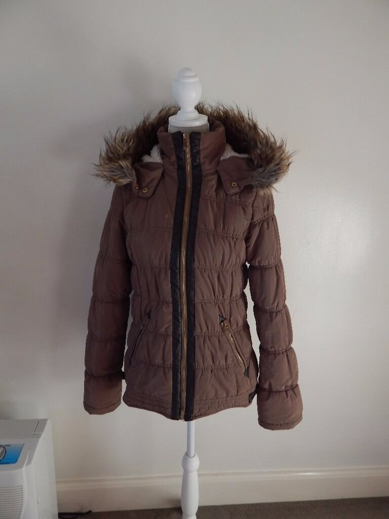 winter jacket, khaki/brown, size 10, Atmospherein Waltham Abbey, EssexGumtree - Very warm, winter jacket for sale. Worn but in good condition. Faux furred hood, pockets and little buckles on sides. Pet and smoke free home