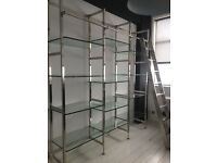 GORGEOUS glass and nickel wall unit - MAKE ME AN OFFER - Eichholtz designer