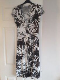 Wallis Wrapover jungle print dress