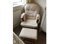 Babyweavers Nursing Chair with footstall
