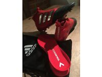 Adidas Ace 17+ Mastercontrol Football sock boots size 8