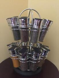 CHROME KITCHEN SPICE CAROUSEL DTILL IN ORIGINAL PACKAGING WAS £70 NOW£40
